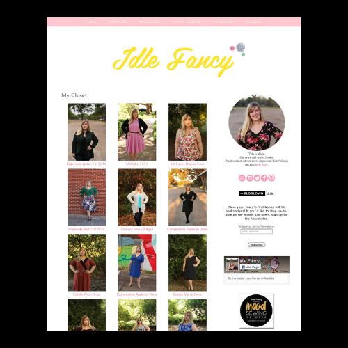 Idle fancy blog screenshot