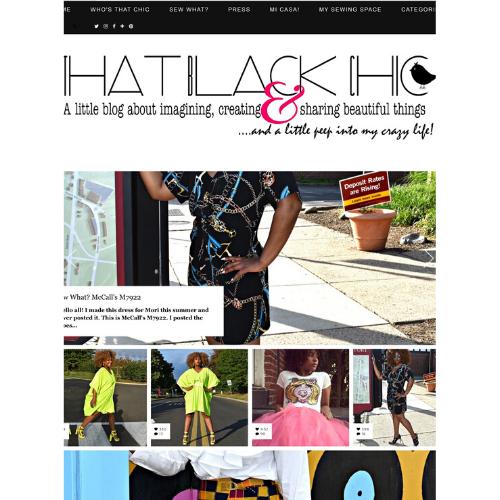 That black chic blog screenshot
