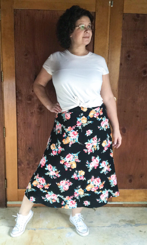 Rayon challis skirt